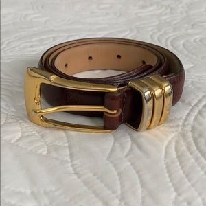 Kenneth Cole genuine leather belt Size SMALL